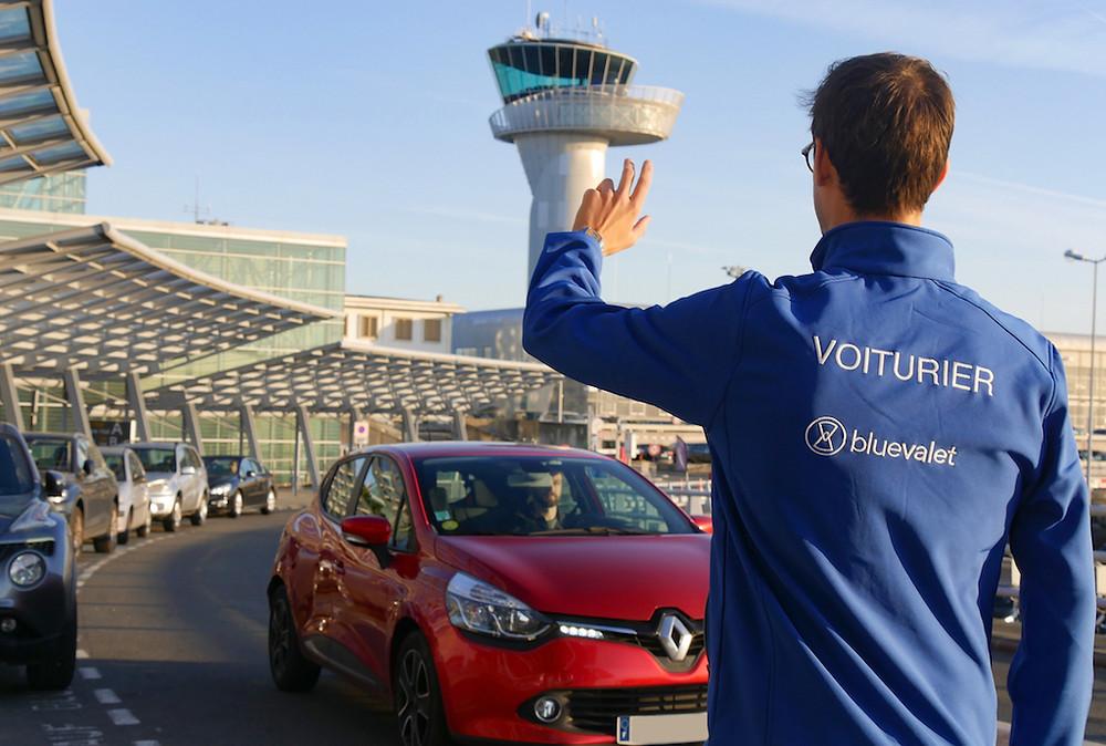 Blue valet, service voiturier aéroport de Nice