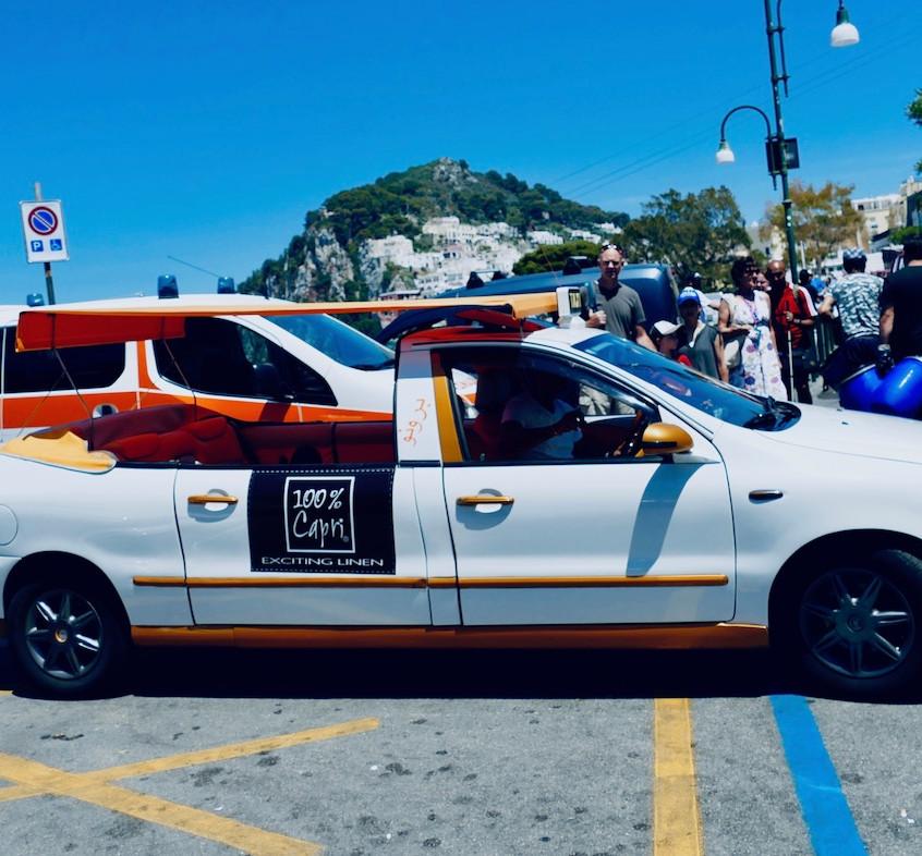 des taxis originaux à Capri