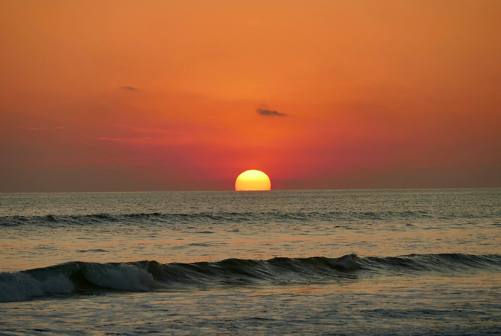 Coucher de soleil devant le Clandestino au Costa Rica