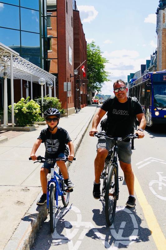 Balade à vélo à Québec