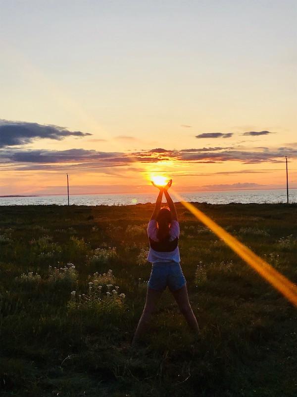 Coucher du soleil - Domaine Floravie