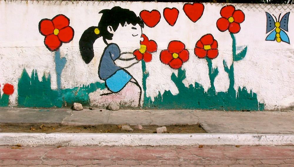 Fresque murale à Isla Mujeres