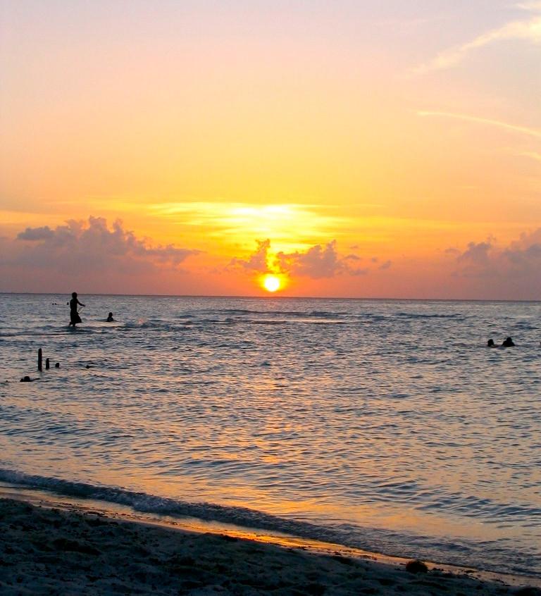 Coucher de soleil à Isla Mujeres