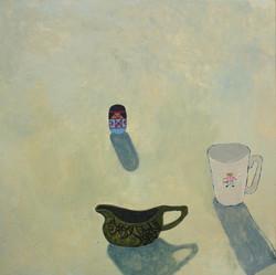 still life with cobweb jug