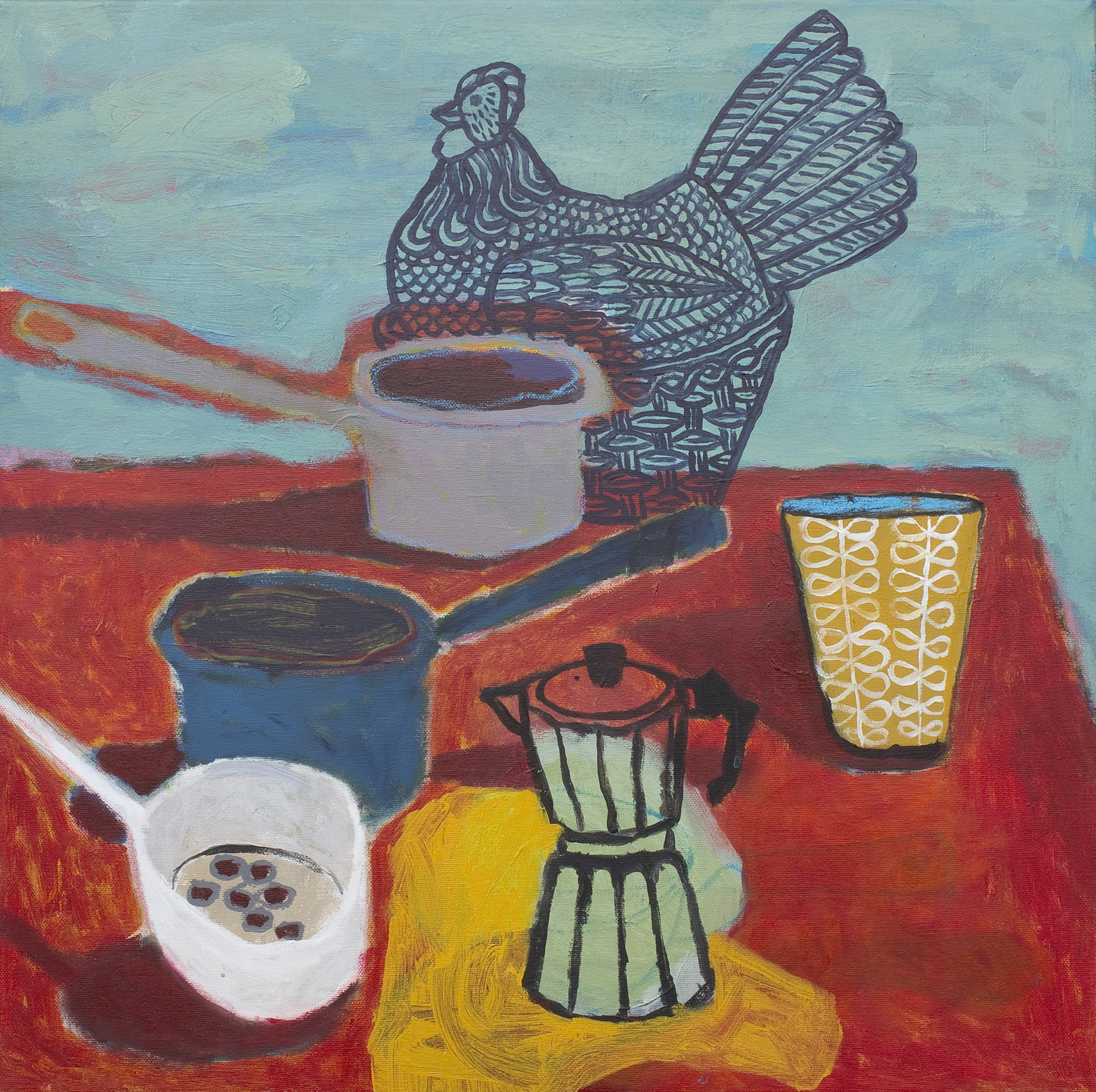 still life with chicken