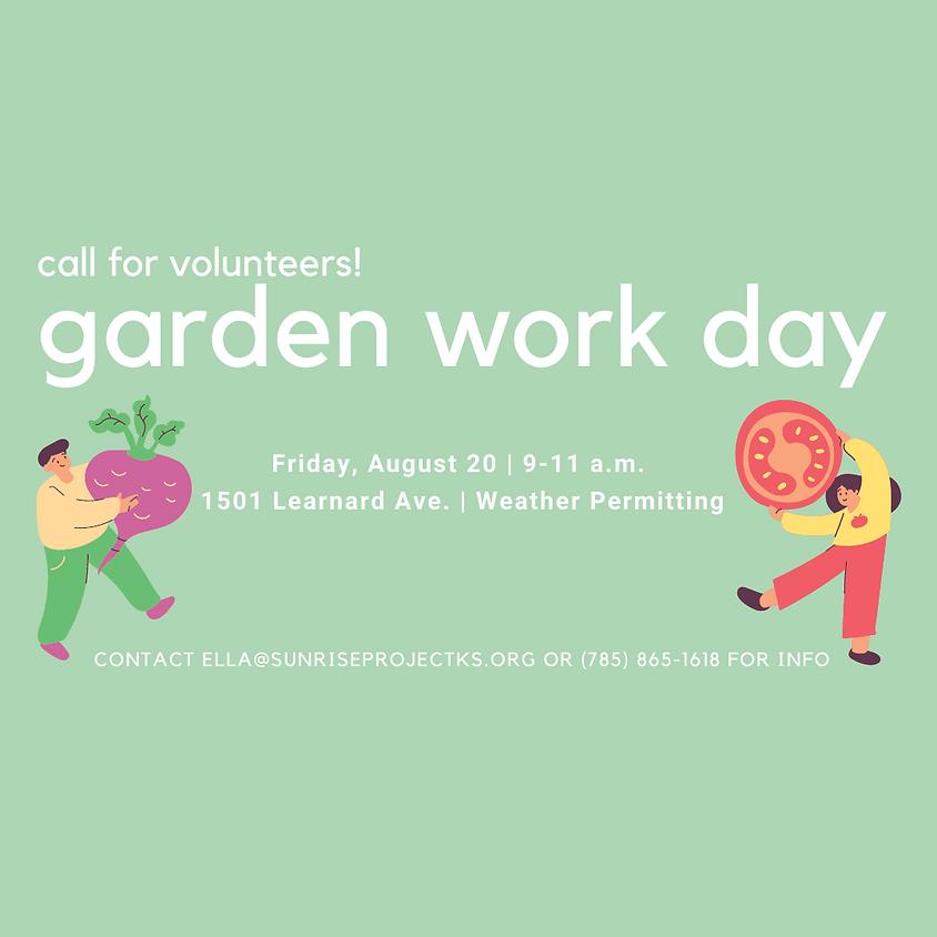 Garden Work Day - Volunteers Needed!