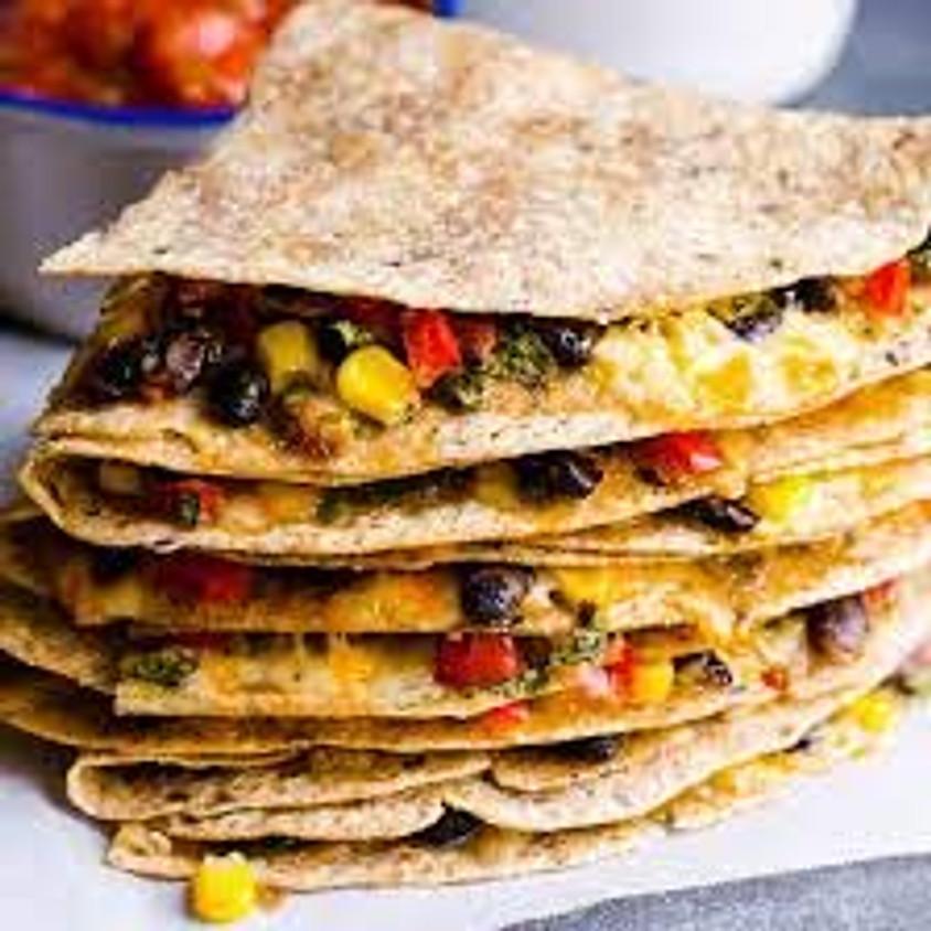 Sunrise Community Meal - To-Go: Veggie Quesadillas!
