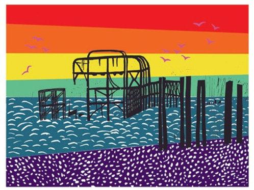 'Pride Pier' giclee print, ClairyB