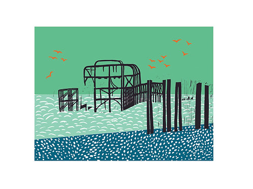 'The Pier' giclee print, ClairyB