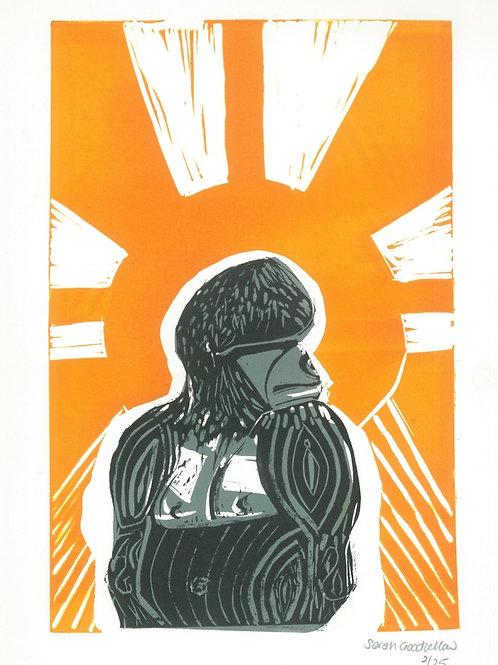 Sunshine Gorilla Giclee Print, Sarah Goodfellow