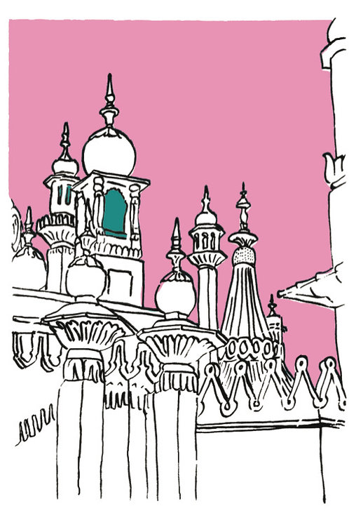 A5 Card 'Pink Pavilion' by ClairyB