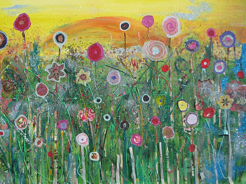 A5 Card 'Summer Meadow' by Sarah Goodfellow