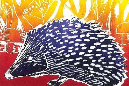 A5 Card 'Midnight Hedgehog' by Sarah Goodfellow