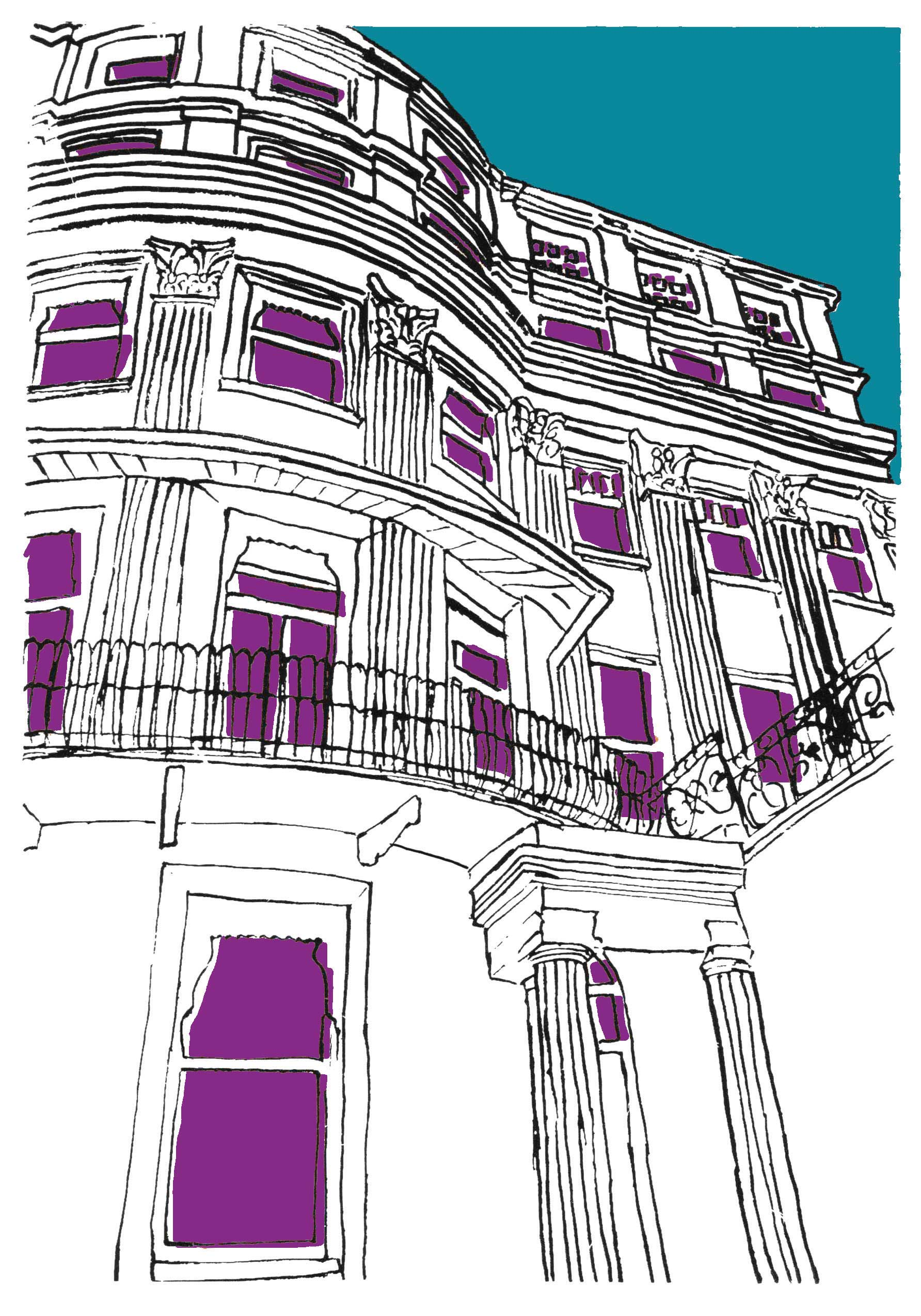 brighton house blue+purple