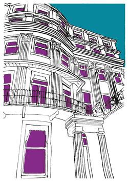 brighton house blue+purple