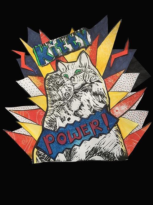 Kitty Power Giclee Print, Sarah Goodfellow