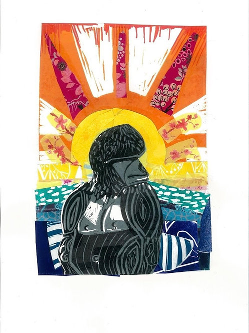 Rainbow Gorilla Giclee Print, Sarah Goodfellow
