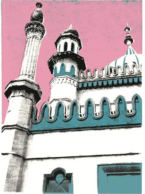 'Big Pink Pav' giclee print, ClairyB
