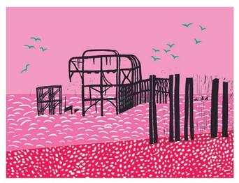 Pink West Pier