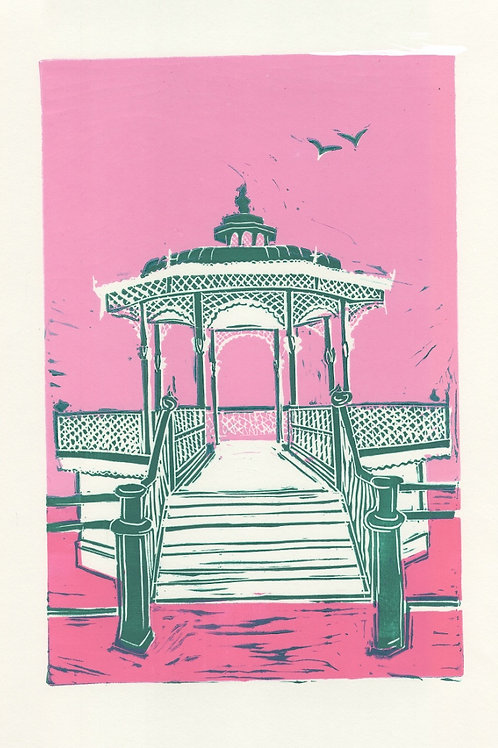 'The Bandstand', giclee print by ClairyB