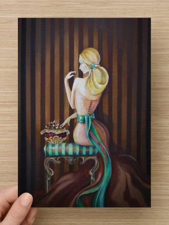 Chocolat - Carte Postale A5
