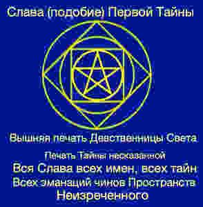 Знак, печать, которым отмечены 64 сознательных существа, список которых приведен в прошлом посте