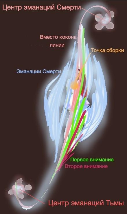 Кокон эмоционально центрированного человека №2, точка сборки на груди