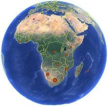 South Africa Swaziland Namibia Mozambique Zambia Tanzania DRC Kenya Madagascar Mauritius Nigeria Liberia Morocco Tunisia Algeria