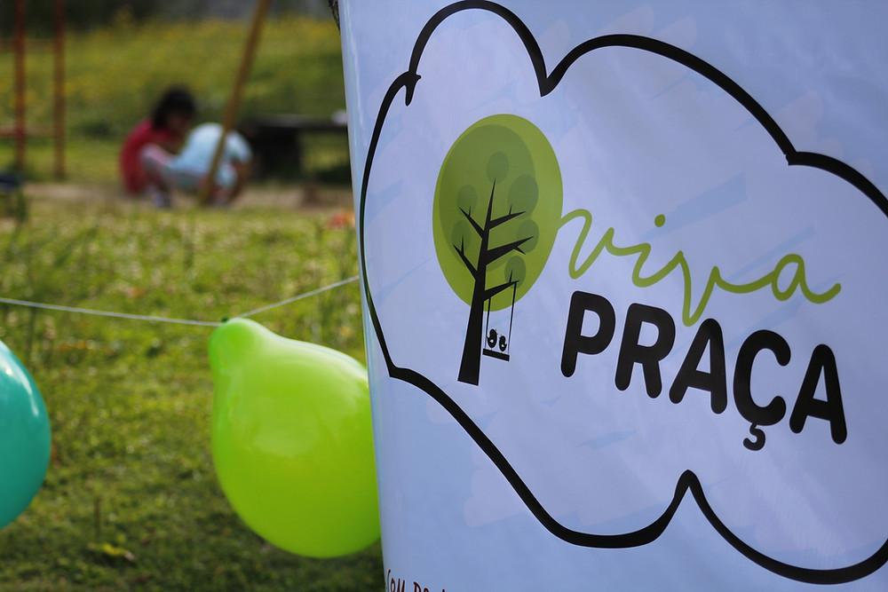Faixa do evento Viva Praça