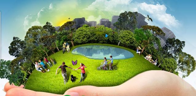 Natureza, cidade e pessoas