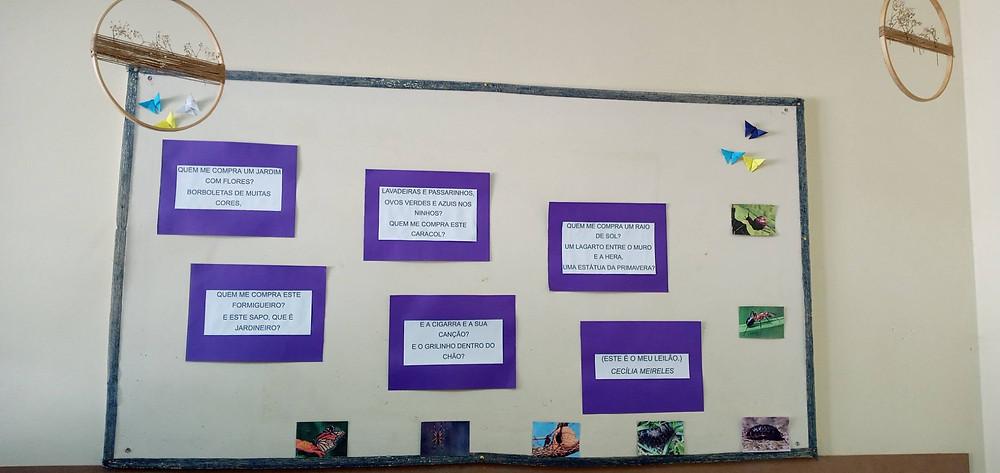 Poemas de Cecília Meireles na parede