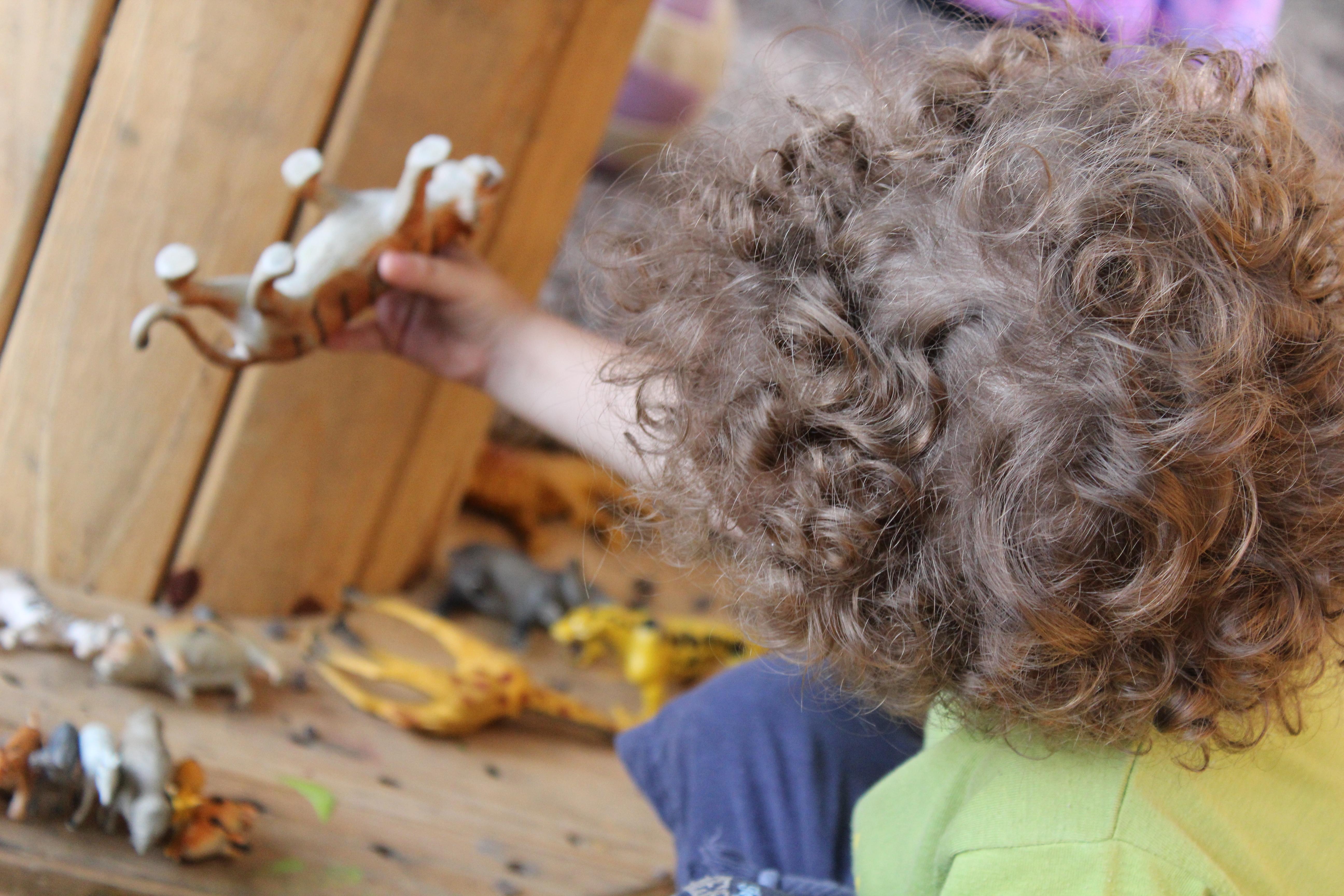 Criança e os dinossauros