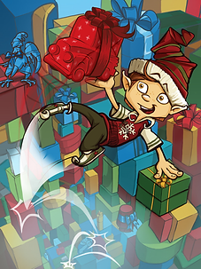 Slush the elf, Christmas book, children