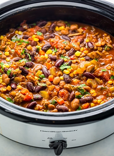 Spicy Slow-Cooker Turkey Chili