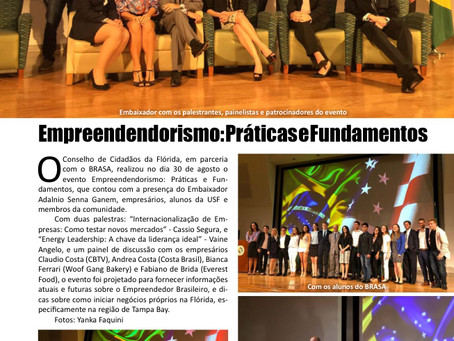 Entrepreneurship Event covered by BRAZIL USA Suncoast Magazine