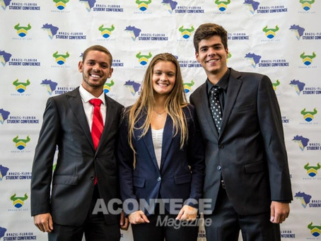 Acontece Magazine after Brazil-Florida Student Conference