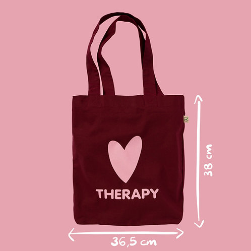 Shopper cotone bordeaux - Heart Therapy