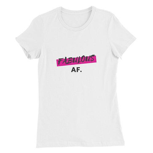 Women's Slim Fit T-Shirt- Fabulous AF (Pink)