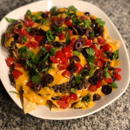 """Vegan Nachos w/ Homemade """"queso"""""""