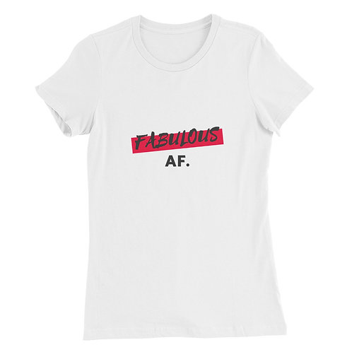 Women's Slim Fit T-Shirt - Fabulous AF (Red)