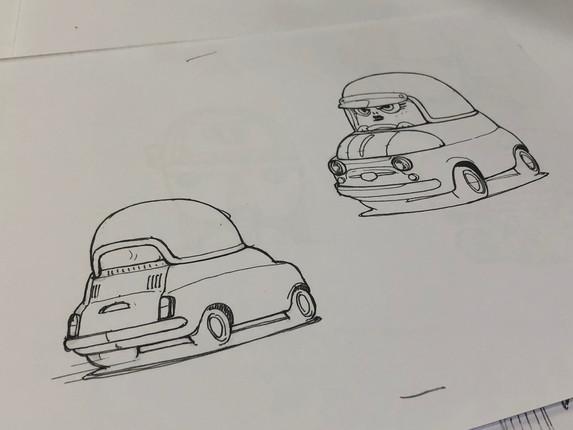 Idea sketch for Viven