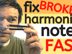 Why won't my harmonica play properly?