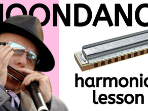 Moondance by Van Morrison - harmonica lesson and tabs