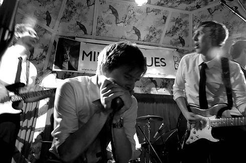 Liam Ward harmonica player (black and white)