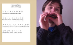 How to play 'Summertime' - Harmonica Lesson & Tabs
