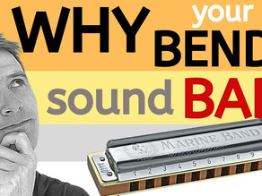 Why do your harmonica bends sound bad?
