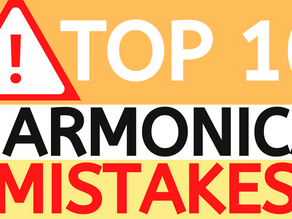 Top 10 mistakes that beginner harmonica players make