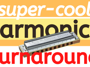 Cool blues harmonica turnaround lick - harp tabs & lesson