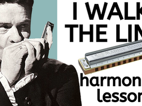 I Walk the Line by Johnny Cash - harmonica tab & lesson