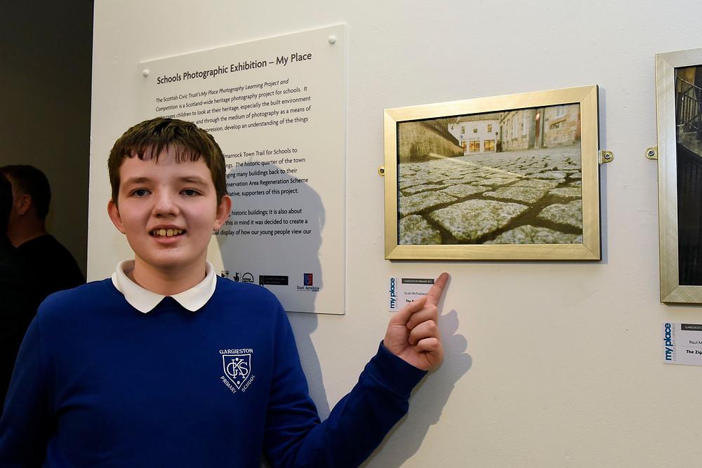 Scott McFadzean (11) from Gargieston Primary